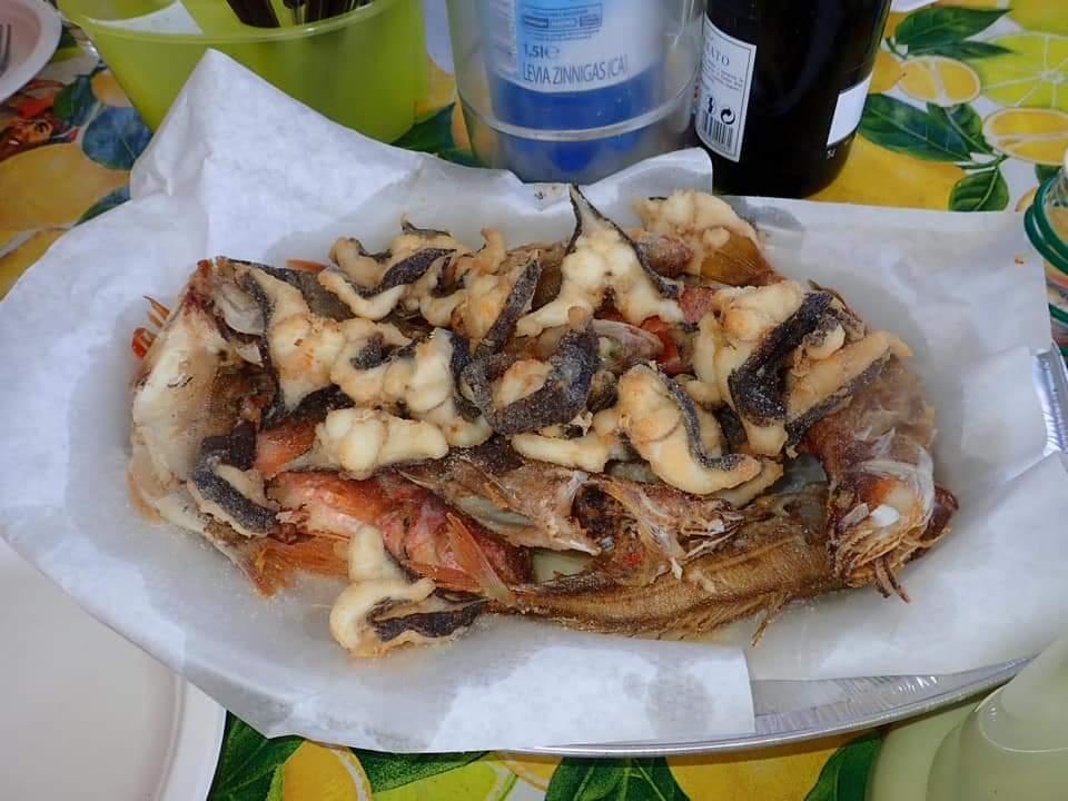 frittura con il pescato del giorno pescaturismo cooperativa san macario