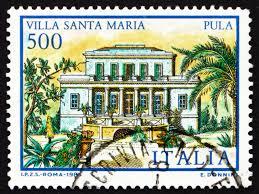 Francobollo da 500 lire Villa Santa Maria Pula